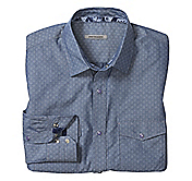 SLIM FIT DIAMOND FOULARD SHIRT