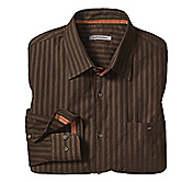 TAILORED FIT CORDUROY TEXTURED STRIPE SHIRT