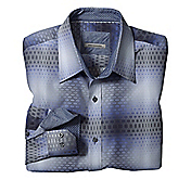 TAILORED FIT GRADIATED SQUARES SHIRT