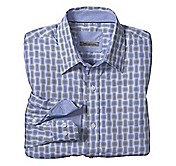 TAILORED FIT PERPENDICULAR OPTICAL SQUARES SHIRT