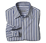 TAILORED FIT CRISSCROSS JACQUARD STRIPE SHIRT