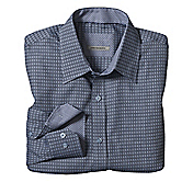 TAILORED FIT JACQUARD TILES SHIRT