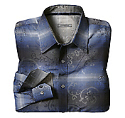 TAILORED FIT LARGE PAISLEY JACQUARD SHIRT