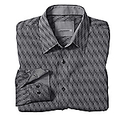 TAILORED FIT REPTILE JACQUARD SHIRT