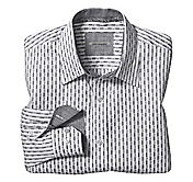 TAILORED FIT GEOMETRIC SHADOW STRIPE SHIRT
