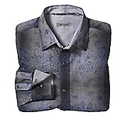 SLIM FIT PAISLEY-PRINTED JACQUARD SHIRT