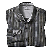 SLIM FIT TEXTURED GRID JACQUARD SHIRT