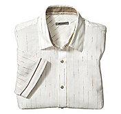 SLIM FIT CHENILLE STRIPE SHIRT