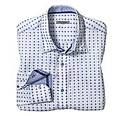 SLIM FIT CIRCLE STRIPE JACQUARD SHIRT