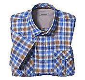 SLIM FIT CRINKLE PLAID SEERSUCKER SHIRT