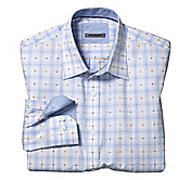 TAILORED FIT EXPLODED DOTTED WINDOWPANE SHIRT