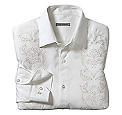 TAILORED FIT PANEL EMBROIDERY SHIRT