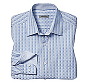 TAILORED FIT REFLECTING SQUARES SHIRT