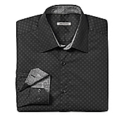 TAILORED FIT MATRIX PRINT SHIRT