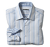TAILORED FIT CIRCLE STRIPE JACQUARD SHIRT