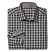 TAILORED FIT ROTATING SQUARES SHIRT