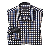 TAILORED FIT SHADOW CHECK SHIRT
