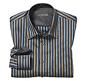SLIM FIT CHAIN LINK STRIPE SHIRT