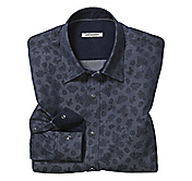 SLIM FIT DENIM PAISLEY SHIRT