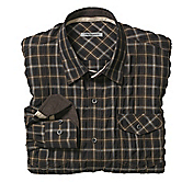 SLIM FIT CRINKLE PLAID SHIRT