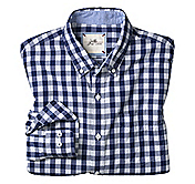 SLIM FIT WASHED GINGHAM CHECK SHIRT