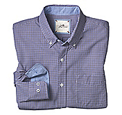 SLIM FIT WASHED MINI CHECK SHIRT