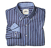 SLIM FIT WASHED STRIPE SHIRT