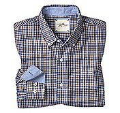 SLIM FIT WASHED TRIPLE CHECK SHIRT