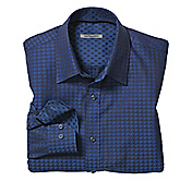 TAILORED FIT SHADOW SQUARES SHIRT