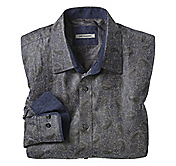 TAILORED FIT TEXTURED PAISLEY JACQUARD SHIRT