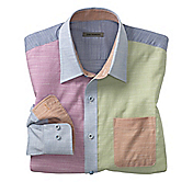 SLIM FIT COLOR BLOCK SHIRT