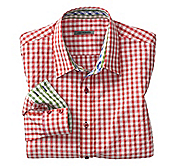 SLIM FIT CONTRAST GINGHAM SHIRT