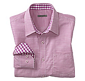 SLIM FIT TEXTURED SOLID SHIRT