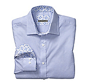 TAILORED FIT CIRCLE SQUARE PRINT SHIRT