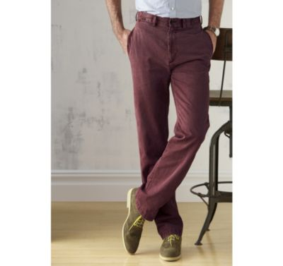 GARMENT-WASHED CHINOS