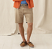 GARMENT-WASHED COTTON SHORTS