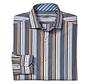 TAILORED FIT RULED AWNING STRIPE SHIRT