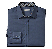 TAILORED FIT MINI-LINK JACQUARD SHIRT
