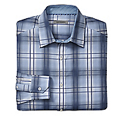 TAILORED FIT SHADOW BOX PLAID SHIRT