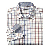 TAILORED FIT DOUBLE-LINE CHECK SHIRT
