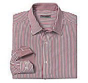 TAILORED FIT REGIMENTED STRIPE SHIRT