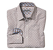 TAILORED FIT OPTICAL STRIPE SHIRT
