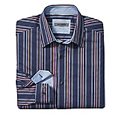 TAILORED FIT MARITIME STRIPE SHIRT