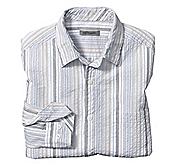 TAILORED FIT VARIEGATED PINSTRIPE SEERSUCKER SHIRT