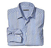 TAILORED FIT FINELINE STRIPE SEERSUCKER SHIRT