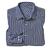 TAILORED FIT WASHED WIDE-STRIPE SHIRT