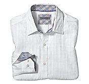 TAILORED FIT RAISED CHECK SHIRT