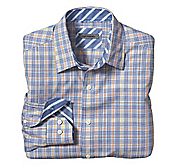 TAILORED FIT HOUNDSTOOTH CHECK SHIRT