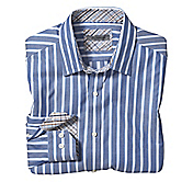 TAILORED FIT WIDE BARREL STRIPE SHIRT