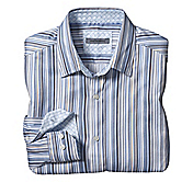 TAILORED FIT THIN AWNING STRIPE SHIRT